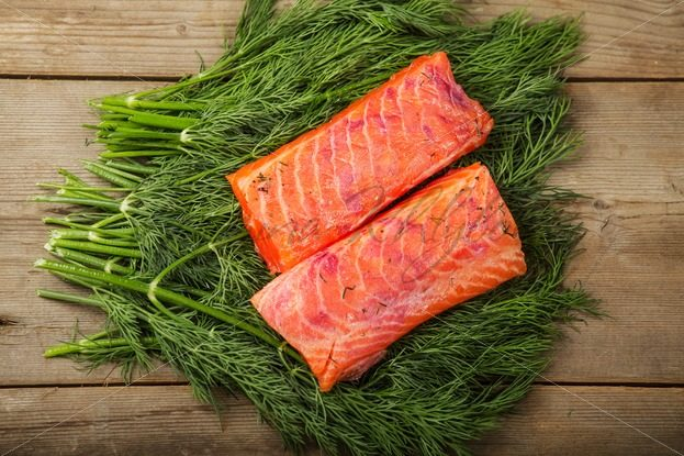Gravad lax on the greenery – Stock photos from around the world