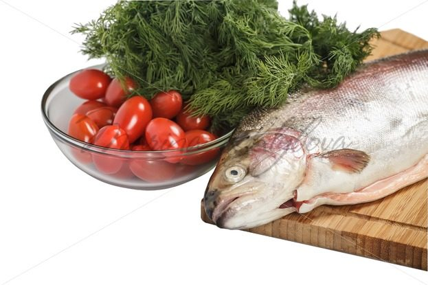 Salmon with greenery – Stock photos from around the world