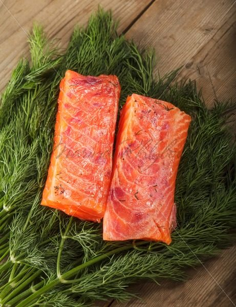 Salty salmon pieces – Stock photos from around the world