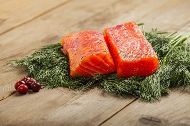 Salty salmon with cranberry – Stock photos from around the world