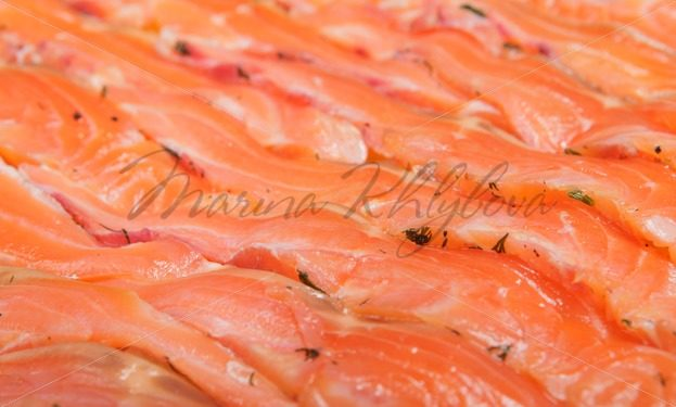Thin slices of the trout – Stock photos from around the world