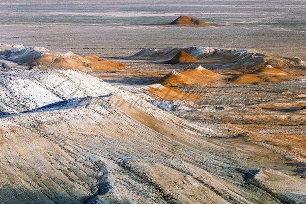 Hills under cliff Western Usturt Chink – Stock photos from around the world