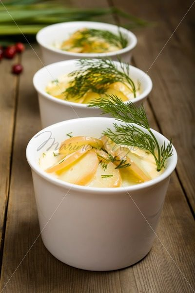 Luxpudding – Swedish baked salmon with potato – Stock photos from around the world